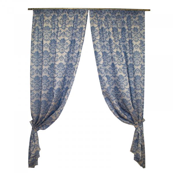 Set draperii Sama albastru, 2x135x255 cm 0