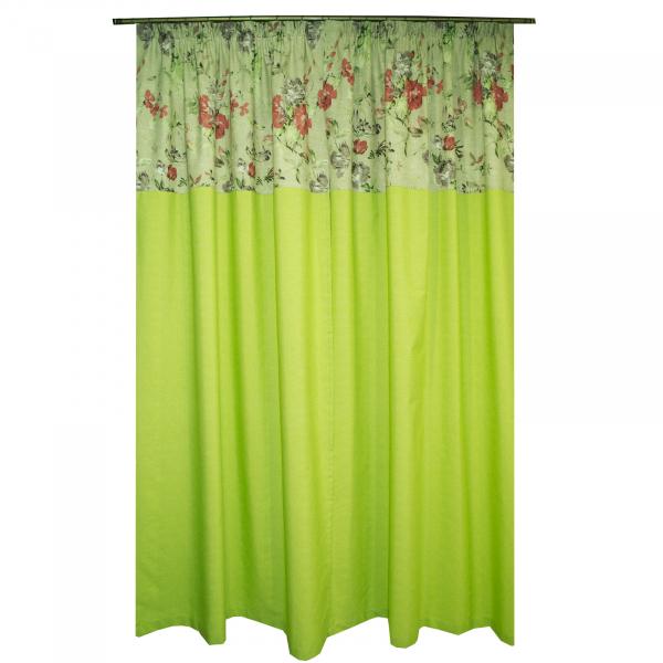 Set draperii verde crud, 2x140x250 cm 1