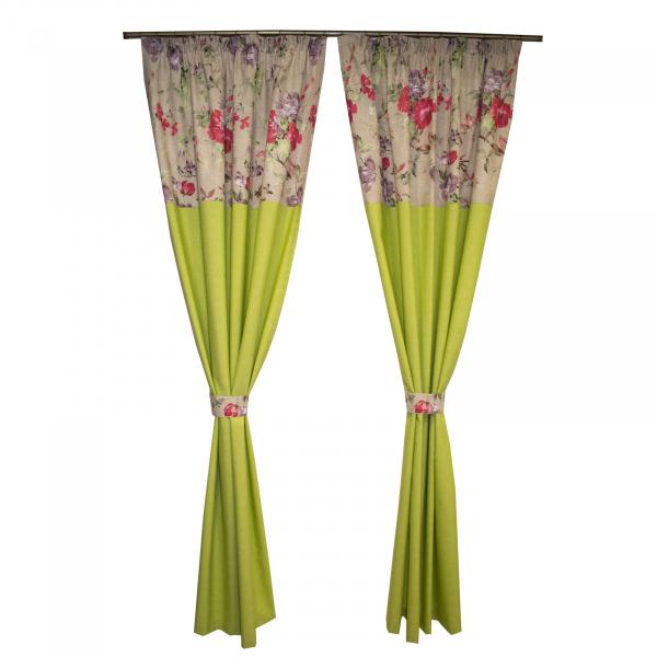 Set draperii verde crud, 2x140x250 cm 0