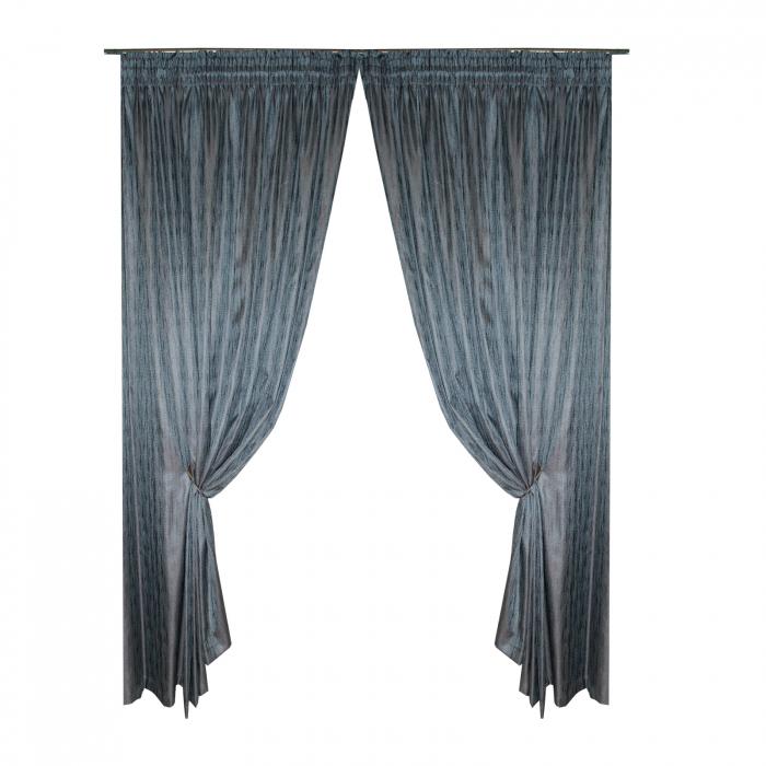 Set draperii marin, 2*170x243 cm 0