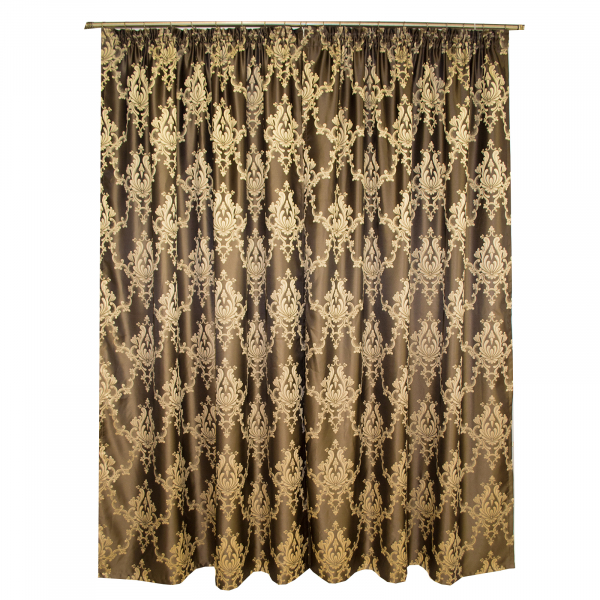 Set draperii tafta wenge cu model 2x140x225 cm [1]