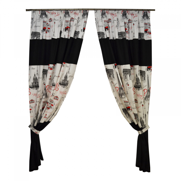 Set draperii Velaria bonjour, 2x155x250 cm 0