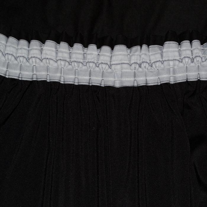 Set draperii Velaria negre cu flori, 2x150x240 cm [3]