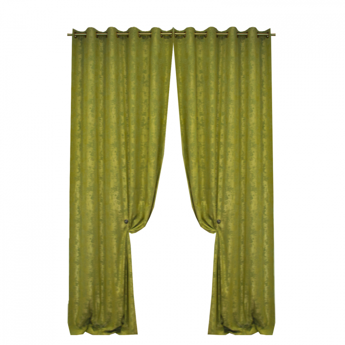Set draperii Velaria asos verde brotacel cu capse [0]