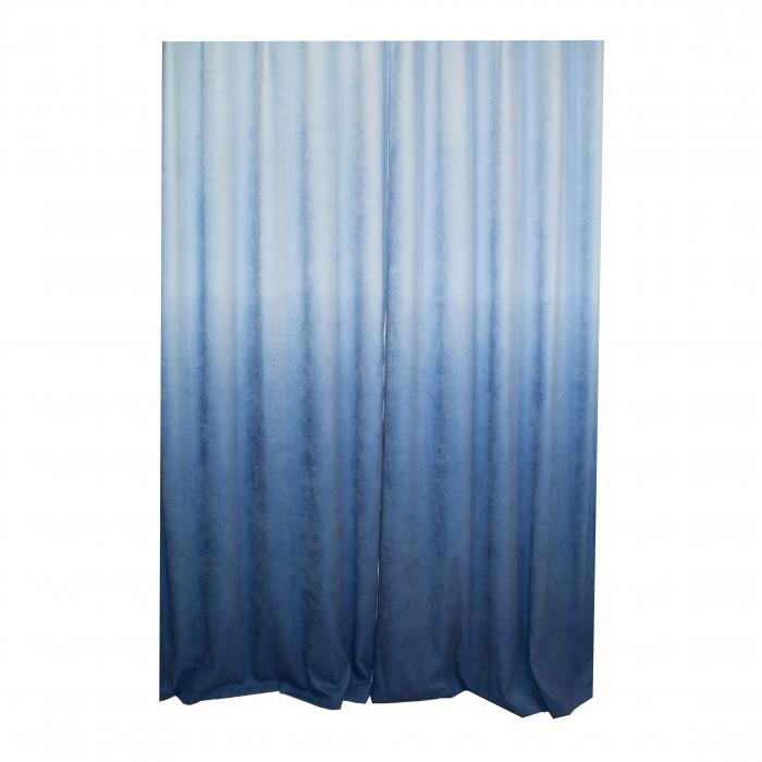 Set draperii Velaria degrade albastru cu rejansa 1