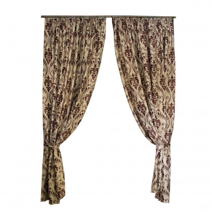 Set draperii Velaria baroc grena, 2*150x255 cm 0
