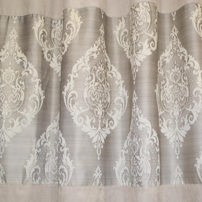 Set draperii Velaria silver cu model baroc, 2*120x225 cm 2