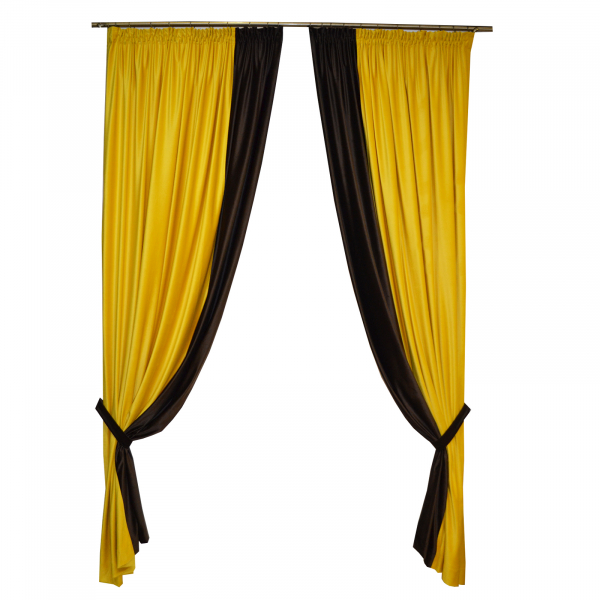Set draperii Velaria catifea bee, 2x185x260 cm 0