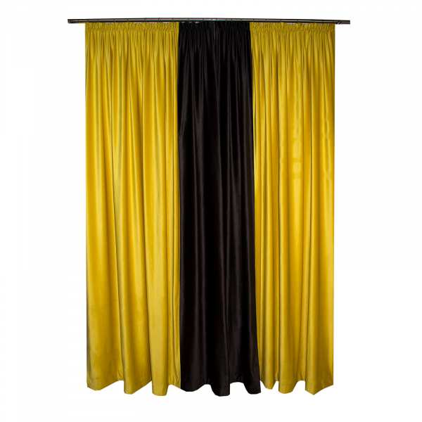 Set draperii Velaria catifea bee, 2x185x260 cm 1