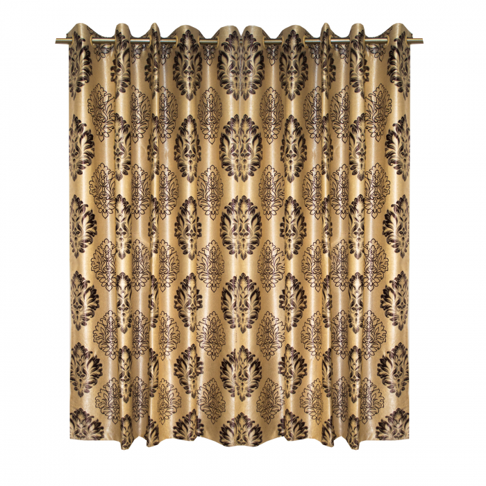 Set draperii Velaria blackout baroc wenge cu capse, 2*160x208 cm 0