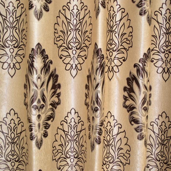 Set draperii Velaria blackout baroc wenge cu capse, 2*160x208 cm 1