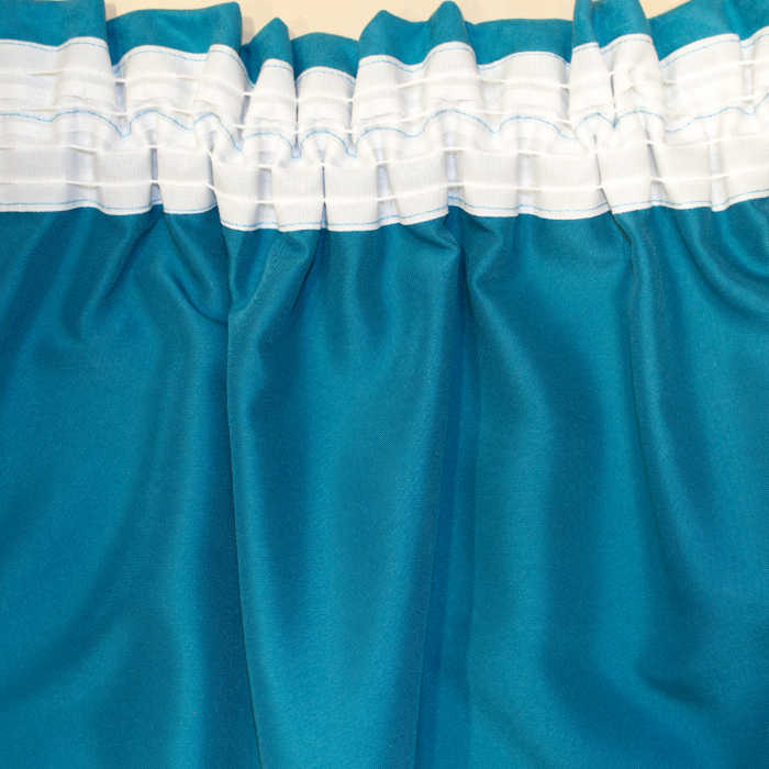 Set draperii Velaria romb gri cu turcoaz, 2x140x280 cm 3
