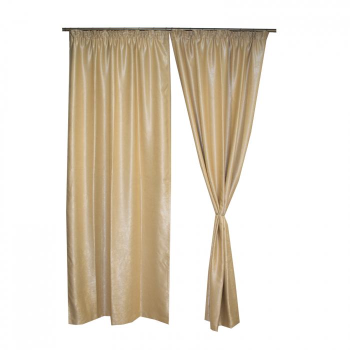 Set draperii Velaria blackout bej, 2*115x250 cm 2