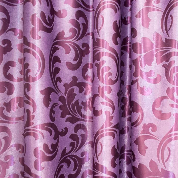Set draperii Velaria blackout mov cu imprimeu, 2*255x250 cm [1]