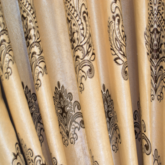 Set draperii Velaria blackout grej cu baroc wenge, 2*285x245 cm 3