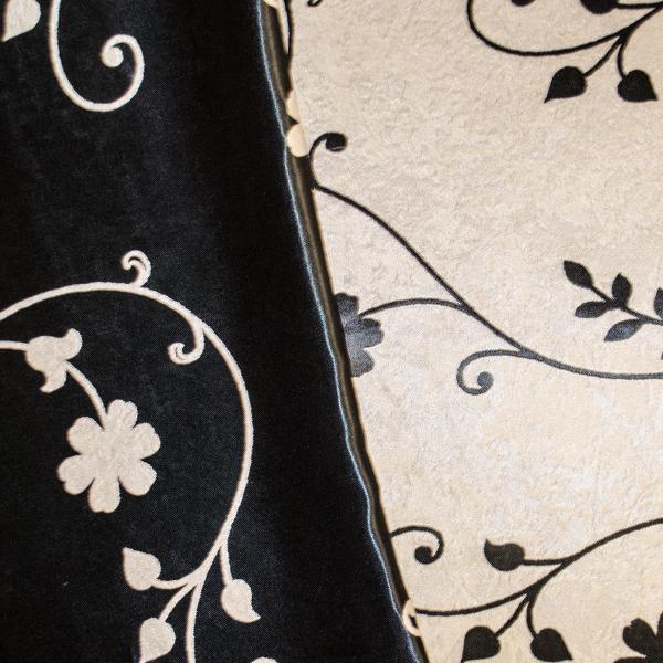 Set draperii Velaria blackout gri cu negru cu 2 fete, diverse dimensiuni 4