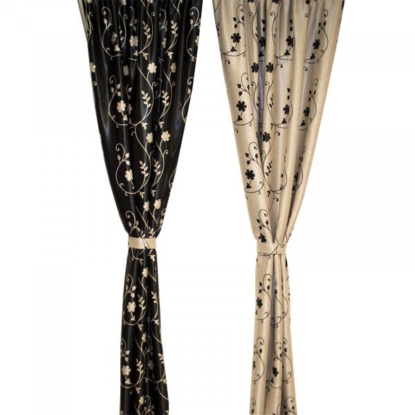Set draperii Velaria blackout gri cu negru cu 2 fete, diverse dimensiuni 2