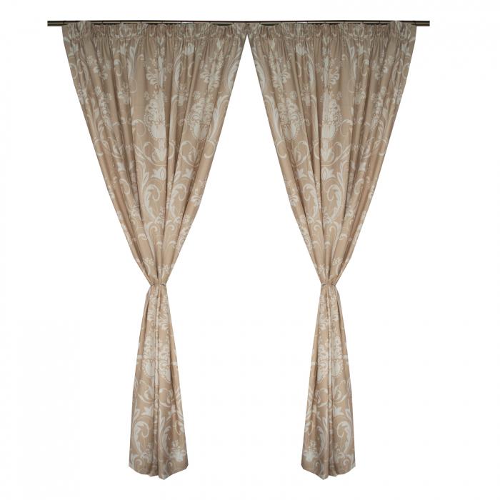 Set draperii Velaria in cu model, 2*190x245 cm 0