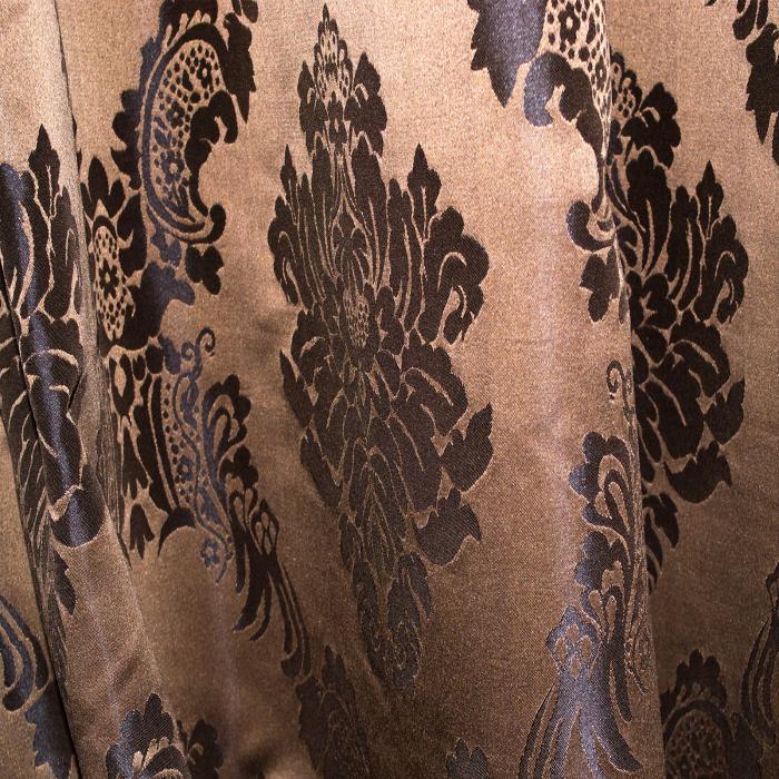 Set draperii Velaria tafta baroc maro 2x145x245 cm 4