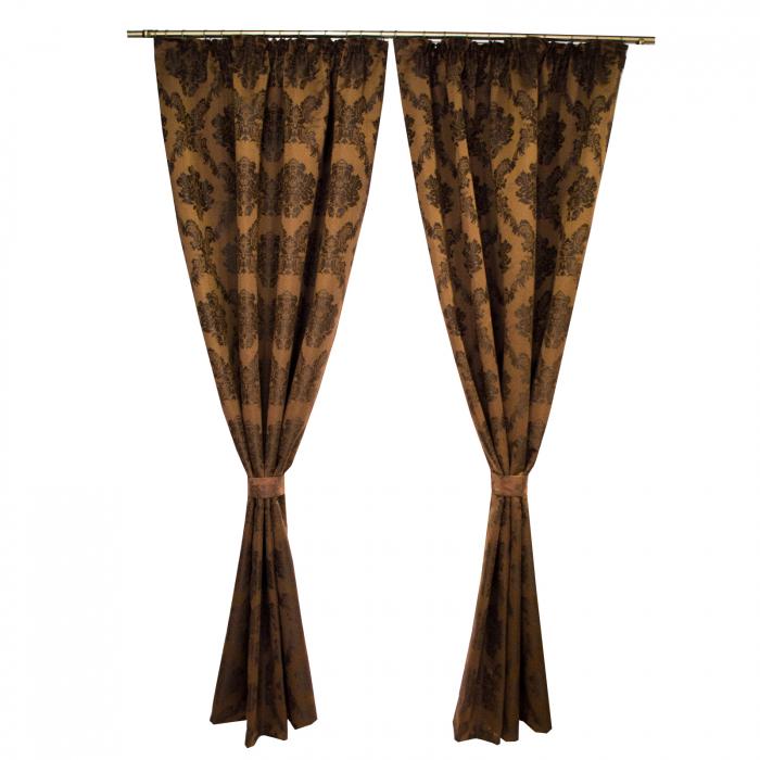 Set draperii Velaria tafta baroc maro 2x145x245 cm 0