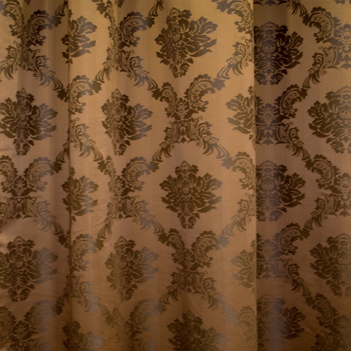 Set draperii Velaria tafta baroc maro 2x145x245 cm 1