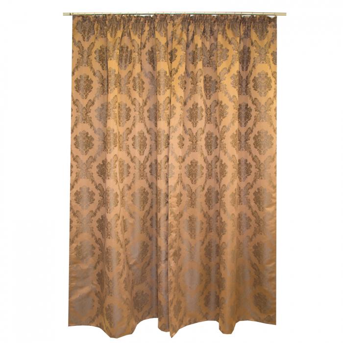 Set draperii Velaria tafta baroc maro 2x145x245 cm 3
