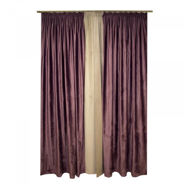Set draperii Velaria catifea mov, 2x165x265 cm 1