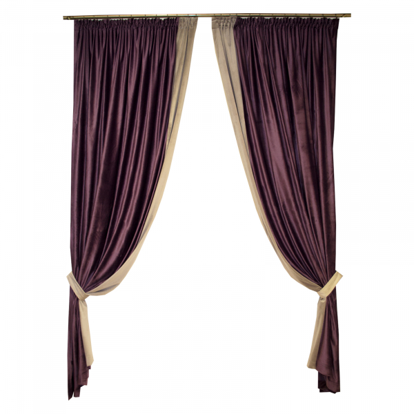 Set draperii Velaria catifea mov, 2x165x265 cm 0
