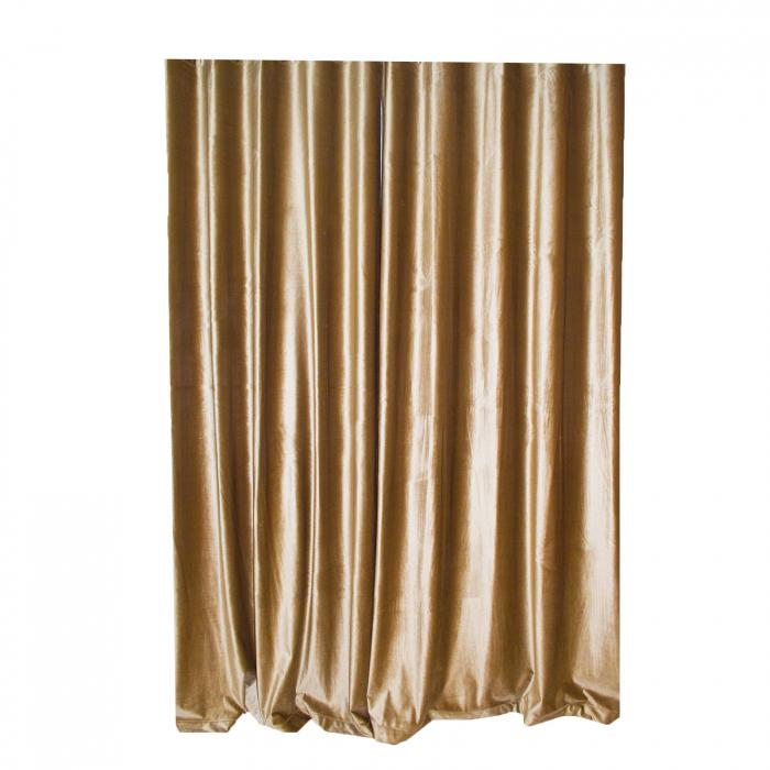 Set draperii Velaria catifea caramel cu rejansa 3