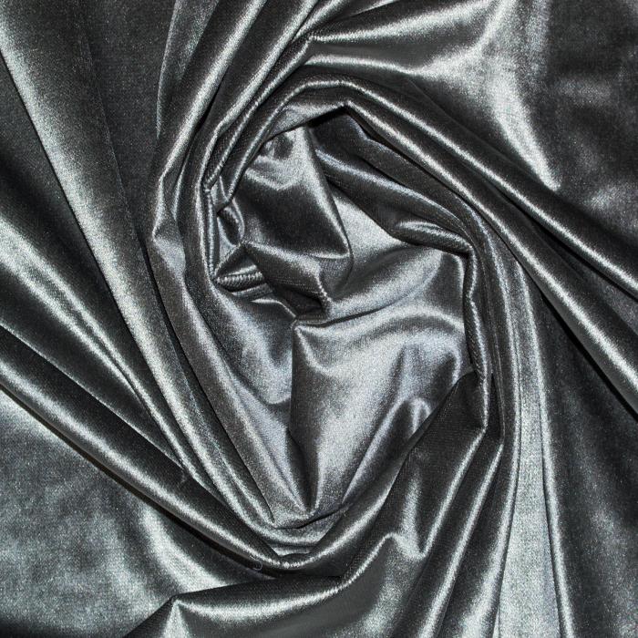 Set draperii Velaria catifea gri cu capse 1