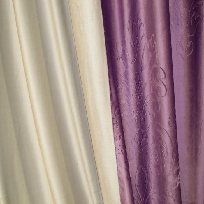 Set draperii Velaria catifea mov 3D-gri, 2x130x260 cm 2