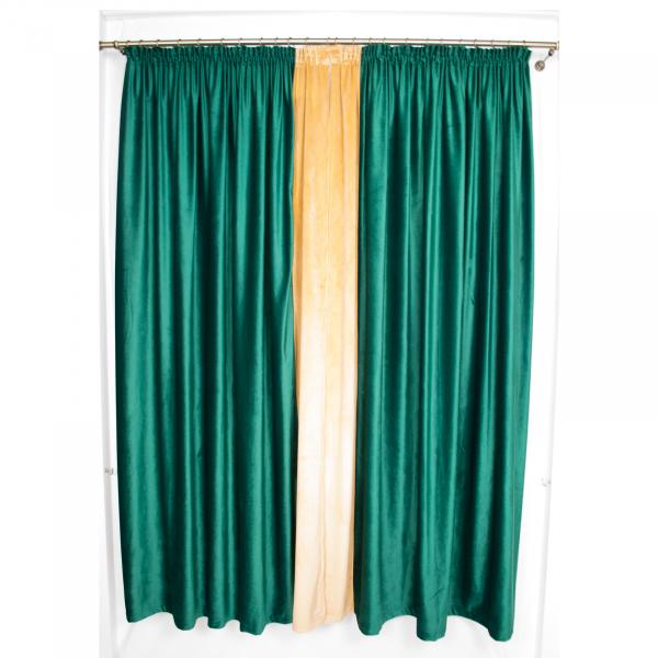 Set draperii Velaria catifea smarald, 2x185x225 cm 2