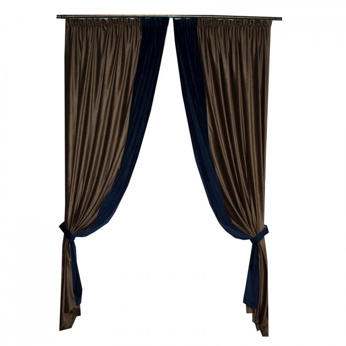 Set draperii Velaria catifea maro, 2x150x270 cm 2