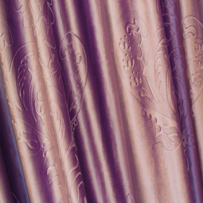 Set draperii Velaria catifea mov 3D-gri, 2x130x260 cm 3