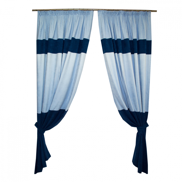 Set draperii Velaria albastru, 2x180x255 cm 0