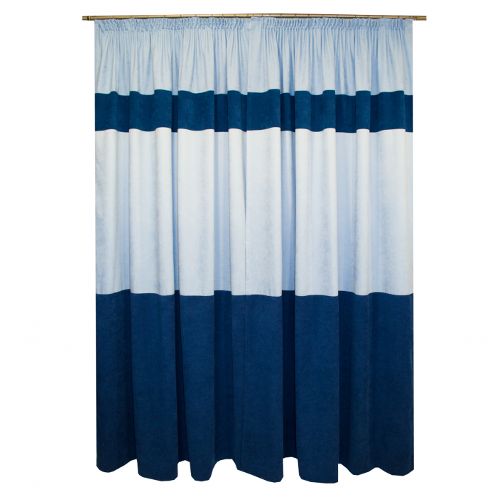 Set draperii Velaria albastru, 2x180x255 cm 1