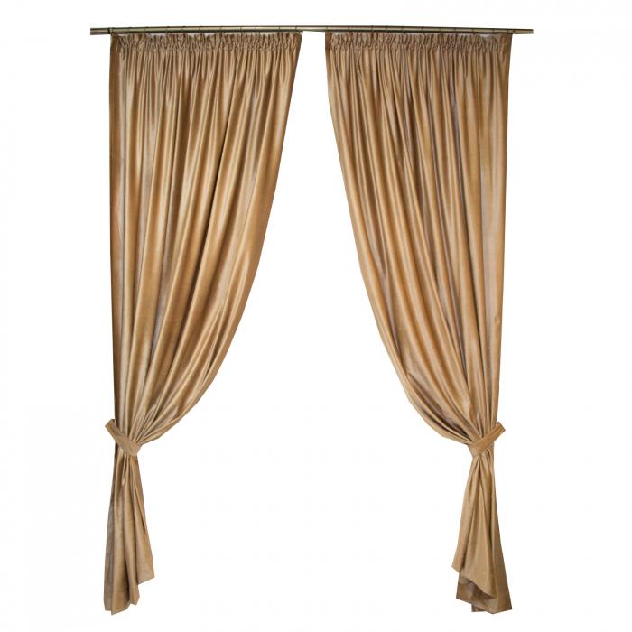 Set draperii Velaria catifea caramel 2x165x265 cm 0