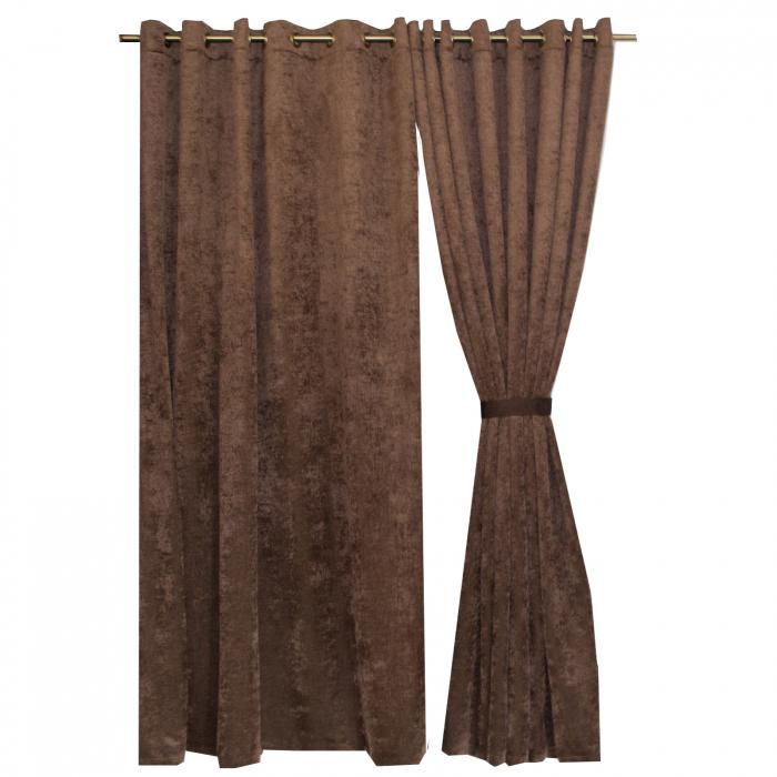 Set draperii Velaria mystic maro, 2*215x240 cm 0