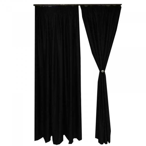 Set draperii Velaria soft negru 470x245 cm 1