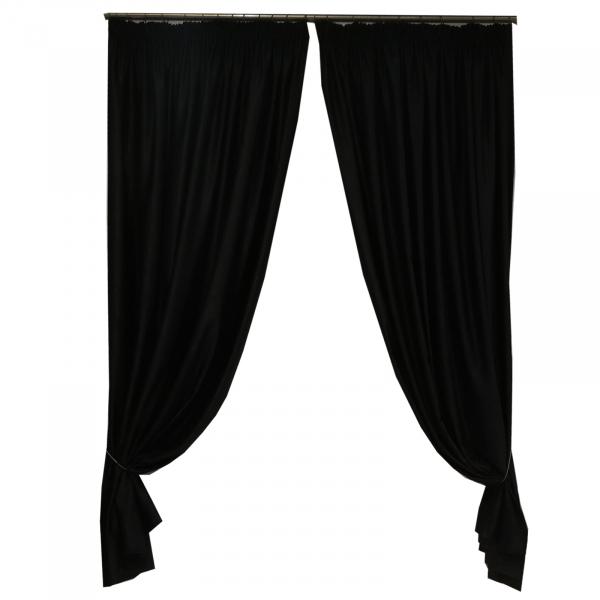 Set draperii Velaria soft negru 470x245 cm 0