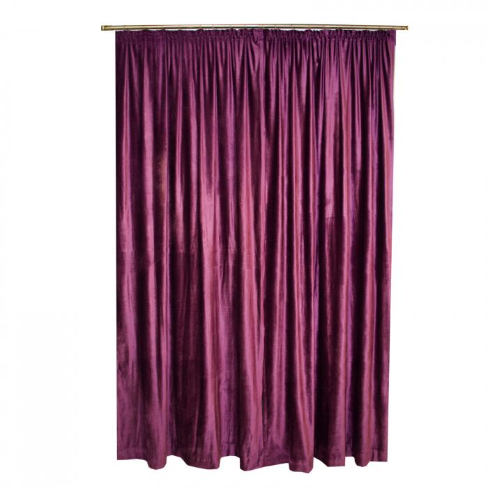 Set draperii Velaria catifea pruna 2x140x270 cm 1