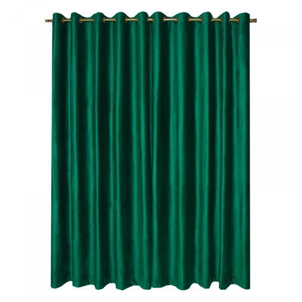 Set draperii Velaria catifea verde smarald cu capse, diverse dimensiuni 1