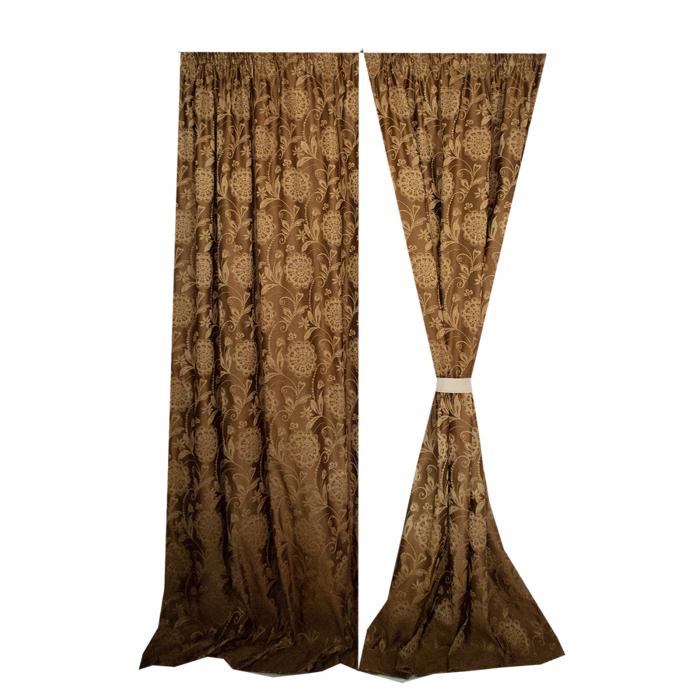 Set draperii Velaria tafta clasic baroc beige [0]