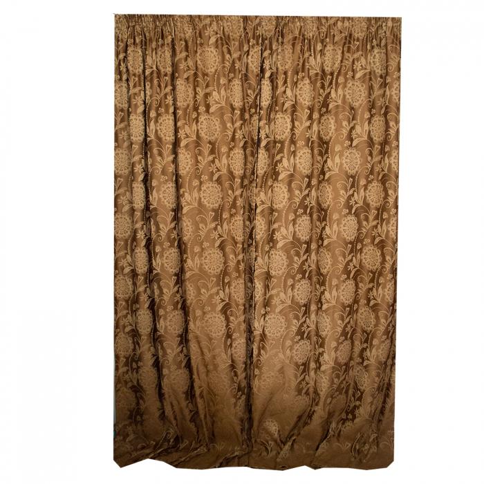 Set draperii Velaria tafta clasic baroc beige [3]