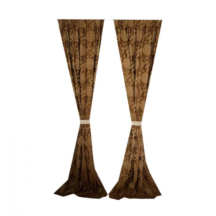 Set draperii Velaria tafta clasic baroc beige [2]