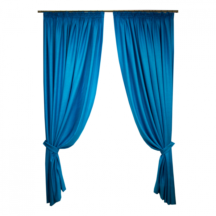 Set draperii Velaria albastru intens, 2x230x260 cm 0