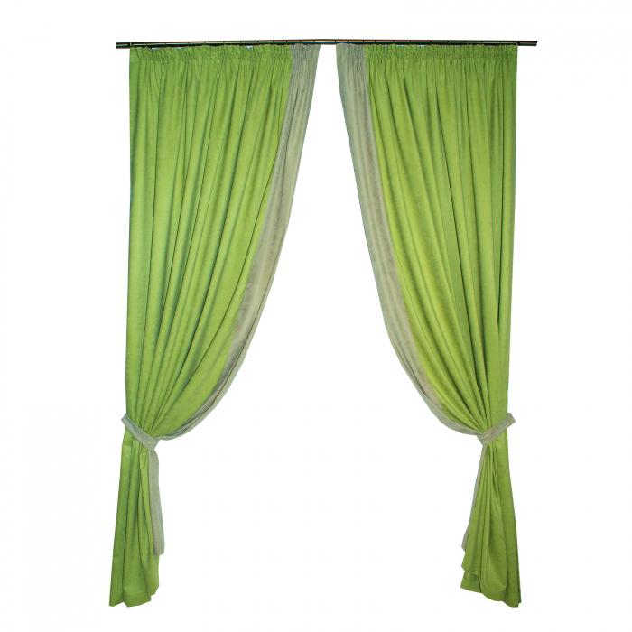 Set draperii Velaria verde deschis 2x170x260 cm 0