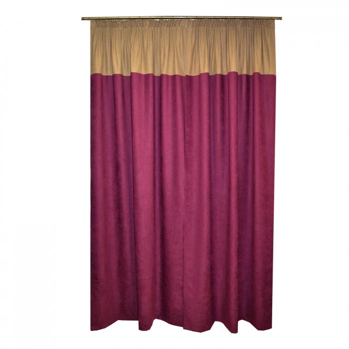 Set draperii Velaria suet pruna, 2x140x260 cm 1