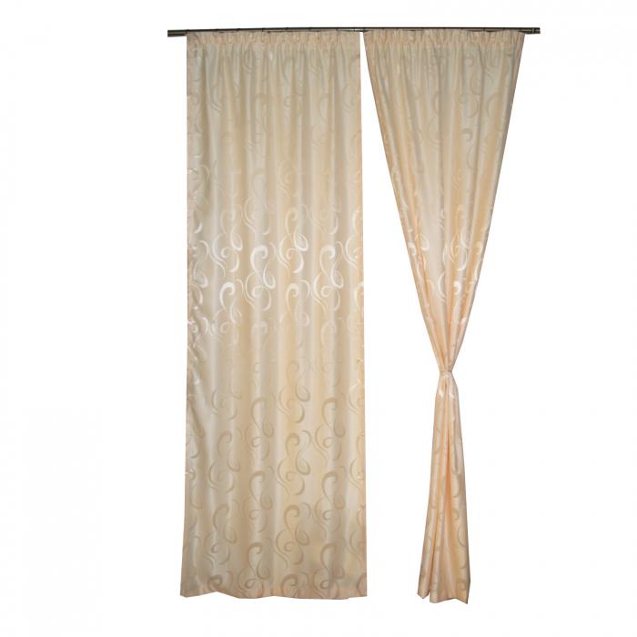 Set draperii Velaria jacard unt, 2x95x260 cm 0
