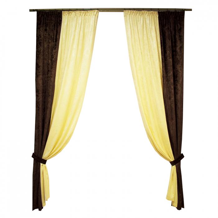 Set draperii Velaria unt-wenge, 2x115x235 cm 0